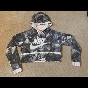 Nike hooded crop sweatshirt